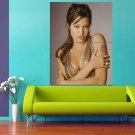 Angelina Jolie Hot Actress Sexy Lips Tatoo 47x35 Print Poster