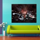 Battlestar Galactica TV Series Spacecraft Battle 47x35 Print Poster