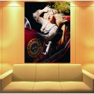 Christina Aguilera Retro Car Vintage Pin Up Pop Music 47x35 Print Poster