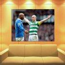 Scott Brown Vs Diouf Celtic Glasgow Football Soccer Huge Giant Print Poster