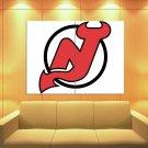 New Jersey Devils Logo Hockey Sport Art Huge Giant Print Poster