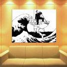 Banksy Great Wave Off Kanagawa Shark Graffiti Art Huge Giant Print Poster