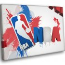 NBA Logo Artwork Art Basketball Sport 30x20 Framed Canvas Print