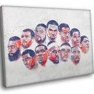 USA Team National Roster Art Basketball Sport 30x20 Framed Canvas Print