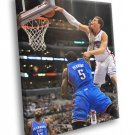 Blake Griffin Posterizes Kendrick Perkins Monster 30x20 Framed Canvas Print