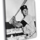 Mickey Mantle New York Yankees Signature Retro BW 30x20 Framed Canvas Print