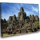 Cambodia Angkor Wat Ancient Buddhist Khmer Temple 30x20 Framed Canvas Art Print