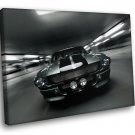 Ford Shelby Mustang GT 500 Speed BW 30x20 Framed Canvas Art Print