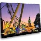 England London Big Ban Big Wheel 30x20 Framed Canvas Art Print