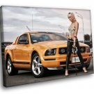 Ford Mustang Pony Car Hot Blonde 30x20 Framed Canvas Art Print