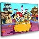 The Flintstones Family Comedy Cartoon 30x20 Framed Canvas Art Print