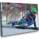 Ted Ligety Champion Alpine Ski Racer US 30x20 Framed Canvas Art Print