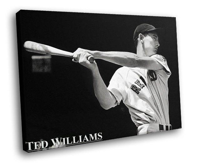 Ted Williams Baseball Sport Boston Red Sox 30x20 Framed Canvas Art Print