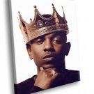 Kendrick Lamar King Hip Hop 30x20 Framed Canvas Art Print