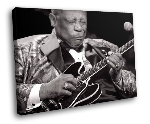 B B King Blues Musician Singer Greatest Guitarist 30x20 Framed Canvas Art Print