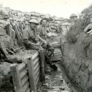 Draining Trench France Soldiers Rare WWI War WW1 Old BW 32x24 Wall Print POSTER