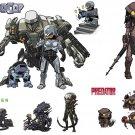 Robocop Alien Predator ED 209 Cain Sci Fi Movie Art 32x24 Wall Print POSTER