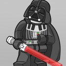 Lego Darth Vader Lightsaber Cool Star Wars Art 32x24 Wall Print POSTER