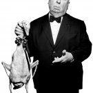 Alfred Hitchcock Duck BW Portrait Movie Legend 32x24 Wall Print POSTER
