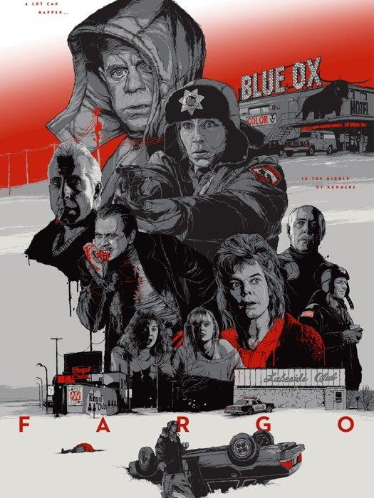 Fargo 1996 Characters Coen Movie Art Artwork 32x24 Print Poster