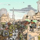 All Characters Part2 Mos Eisley Tatooine Star Wars 32x24 Print Poster
