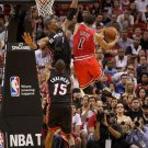Derrick Rose Layup Chicago Bulls Vs Miami Heat 32x24 Print Poster