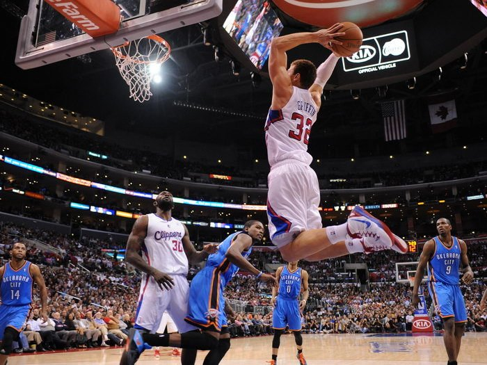Blake Griffin Alley Oop Dunk Clippers Basketball 32x24 Print Poster