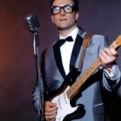 Buddy Holly Guitar Microphone Retro Singer Music 24x18 Wall Print POSTER