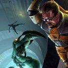 Half Life 2 Gordon Freeman Crowbar Awesome Game Art 24x18 Wall Print POSTER