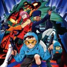 FLCL Characters Anime Manga Art 24x18 Wall Print POSTER