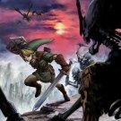 The Legend Of Zelda Link Stalfos Princess Art 24x18 Print Poster