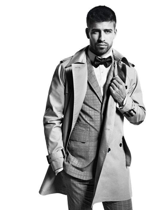 Gerard Pique Hot BW Suit Barcelona Spain Football 24x18 Print Poster