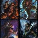 Teenage Mutant Ninja Turtles TMNT Angry Dark Art 24x18 Print Poster