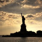 Statue Of Liberty Sunset New York USA 24x18 Wall Print Poster