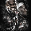 LeBron James Miami Heat Art Dunk Basketball 24x18 Print Poster