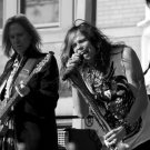 Aerosmith Steven Tyler Tom Hamilton BW Stage Retro Band 16x12 Print POSTER