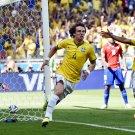 David Luiz Goal Celebration World Cup Soccer Football 16x12 Print POSTER
