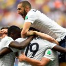 Karim Benzema France Goal Celebration World Cup Brazil 16x12 Print POSTER