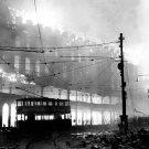 Sheffield Debris Fire Wwii World War Ww2 Old Retro Bw 16x12 Print Poster