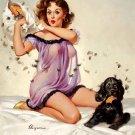 "Gil Elvgrin art ""ticklish situation"" 20x16 inch Framed Canvas Art Print"