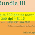 Scanning digitizing photos up to 500 photos scanned at 300 dpi SPECIAL SALE