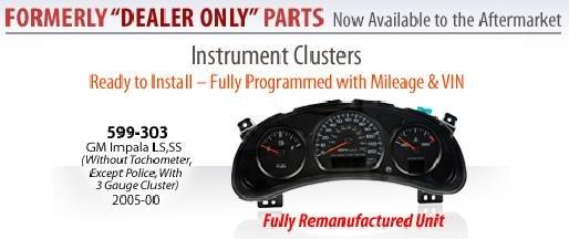 Instument Cluster 2004-2005 Chevrolet Impala SS 3.8L - V6 599-303