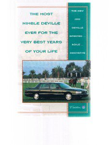 Cadillac 1999 DEVILLE Fold-Out Brochure