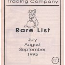 Vintage Intergalactic Trading Company Rare List July-September 1995