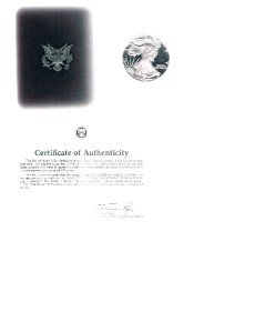 American Eagle 1987-S One Oz Proof Silver Bullion Coin With Boxs & COA - US Mint
