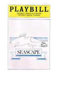 Playbill Edward Albee's SEASCAPE March 1986 at Coconut Grove Playhouse Florida
