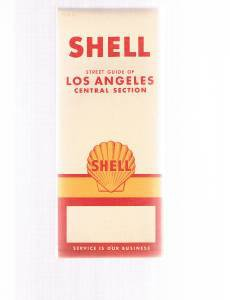 Vintage Shell Oil Los Angeles Central Section -California 1961 Road Map -Gousha