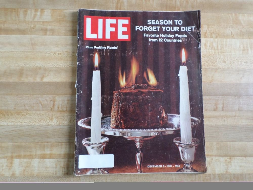 Life Magazine 8 December 1961-Favorite Holiday Foods From 12 Countries-Christmas