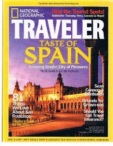 National Geographic Traveler Magazine September 2002 -Sean Connery's Edinburgh +