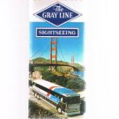 Vintage Gray Line San Francisco Sightseeing fold-out brochure 9-1-79- California